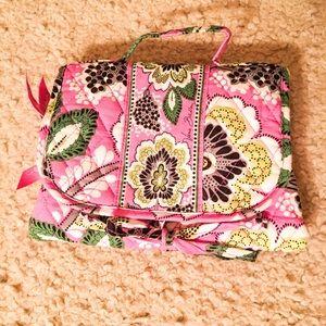 Vera Bradley Priscilla Pink Travel Roll Up Bag